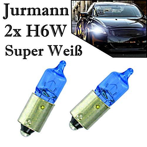 2x Jurmann H6W 12V BAX9s Original Super Weiß Parklicht Standlicht Hecklicht Rückfahrlicht Halogen Ersatz Birne E-geprüft