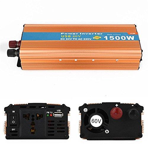 Convertisseur BQ Inverseur alimenté par voiture 1500W Inverter petite puissance Batterie voiture 60V ext 220V Booster, tablettes et téléphones