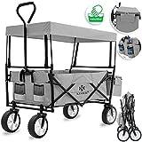 Kesser® Bollerwagen faltbar mit Dach Handwagen Transportkarre Gerätewagen