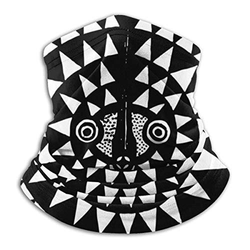 Merle House Afrikanische Mondmaske. Stammes-alte Kunst. Tintengrafik für Design und Malvorlagen. Vektor-Illustration. Halswärmer Winterschal