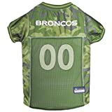 NFL Denver Broncos Camouflage Dog Jersey, Small. - CAMO PET Jersey Available in 5 Sizes & 32 NFL Teams. Hunting Dog Shirt