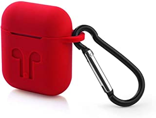 Electomania Silicone Shock Proof Protection Carrying Bag Cover Case for Apple AirPods (Red)