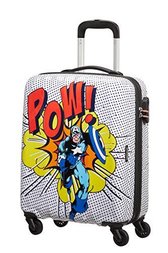 American Tourister Marvel Legends - Maleta de equipaje de mano, talla S (55 cm - 36 L), Multicolor (Captain America Pop Art)
