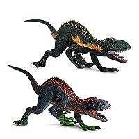 動物モデル 大型37×8×14cm恐竜ブルーベロシラプターマウス開閉恐竜モデル可動人形コレクショントイ 恐竜モデル ZHYGDQ (Color : 2PCS)