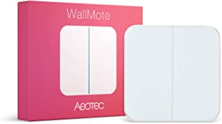 Aeotec WallMote, Zwave Controller Wireless Wall Smart Zwave on Off Switch, 2 Button Control 8 Scenes Zwave Wall Switch Wor...