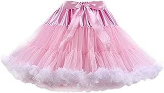 Colyanda Womens 3-Layered Pleated Tulle Petticoat Tutu Puffy Party Cosplay Skirt