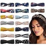 Huachi Boho Headbands for Women Twist Hair Bands Fashion Summer Hair Accessories, 16 Pack (16 Pack Boho Headbands)
