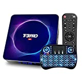 DOOK 2021 Newest Android TV Box 10.0, T3 Pro Android Box Allwinner H616 Quad-Core 64bit with Dual-WiFi 2.4G/5GHz BT 5.0,Ultra HD 6K HDR H.265 USB 3.0 TV Box with Wireless Mini Keyboard4+128G