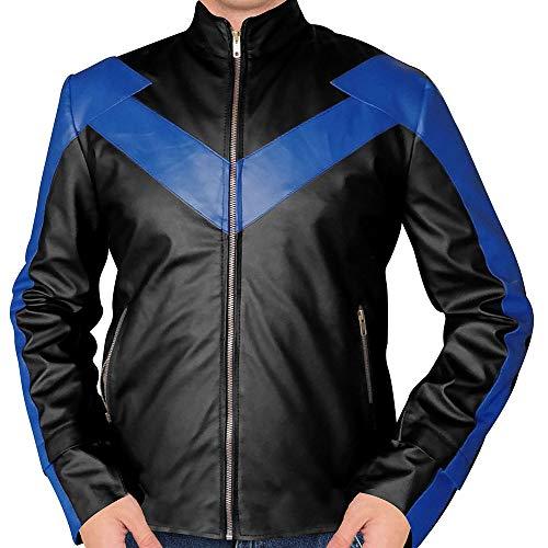 Brenton Thwaites Dick Grayson Titans Nightwing Black Leather Jacket (S)
