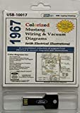 1967 ColorizedFord Mustang Wiring and Vacuum Diagrams (USB)
