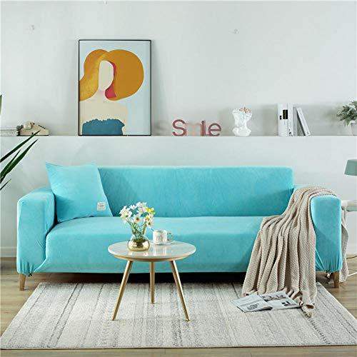 certainPL Fabirc Elastic Sofa Cover Solid L Shape Sofa Covers Velvet for Living Room Stretch Slipcover Couch Cover