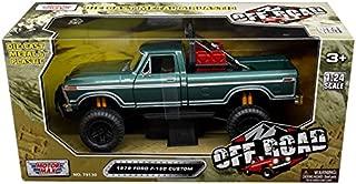 1979 Ford F-150 Custom Pickup Truck Off Road Green 1/24 Diecast Model by Motormax 79138