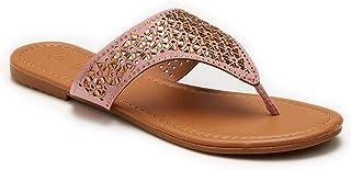 1eabb7a51d13 Olivia Miller Women s Cut-Out Hooded Thong Sandals