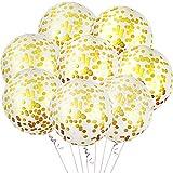 8 Piezas Globos de Confit Oro 36 Pulgada Globos de Confit Jumbo Globos de Confit de Látex Gigante para Decoración de Fiesta Boda Cumpleaños Baby Shower