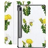 Funda para Galaxy Tab S7 Funda Delgada y Ligera con Soporte para Tableta Samsung Galaxy Tab S7 de 11 Pulgadas Sm-t870 Sm-t875 Sm-t878 2020 Release, Flat Vector Set Dandelions Wild Herd