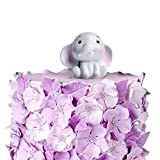 Ercadio 1 Pack Lovely 3D Baby Elephant Cake Topper Resin Little Figurine Doll Jungle Safari Animals Cake Decoration for Baby Shower Kids Boys Girls Birthday Party Supplies