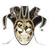 NUOBESTY Máscara de Mascarada de Bufón Máscara Veneciana Mardi Gras Mascarilla para Mujeres Hombres Disfraz de Cosplay Pascua Arte de La Pared Decoración Colección Foto Prop Estilo 1