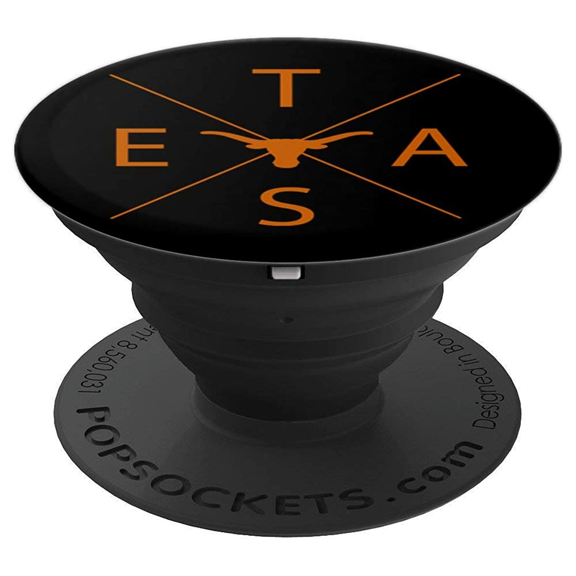 Texas State Pride Cool Mobile Phone Accessory Long Horn Fan - PopSockets Grip and Stand for Phones and Tablets