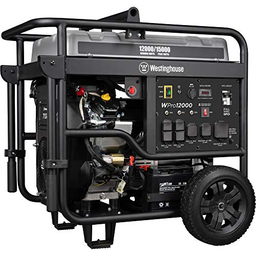Westinghouse WPro12000 Ultra Duty Industrial Portable Generator - 12000 Rated Watts & 15000 Peak...