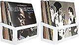 Hudson Hi-Fi Soporte de Vinilo para Montaje en Pared, 25 álbumes, Soporte para Pantalla | Perla Blanca | Dos Paquetes (White Pearl, 2)