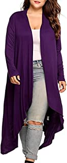 YEMOCILE Womens Casual Long Sleeve Open Front Knit Cardigan Sweater Coat Tops Coat