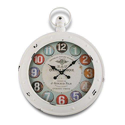 Versa 1819005 Reloj DE Pared Blanco 79X60CM, Metal