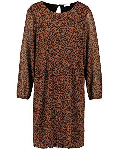 Gerry Weber Damen 280016-31624 Kleid, Mehrfarbig (Toffee/Schwarz 7120), (Herstellergröße: 40)