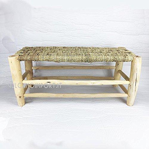 Artigianato vulcano Banc en bois de peuplier marocain