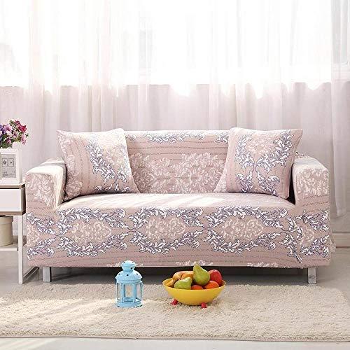 Funda de sofá de 3 Plazas Funda Elástica para Sofá Poliéster Suave Sofá Funda sofá Antideslizante Protector Cubierta de Muebles Elástica Flor Rosa Funda de sofá