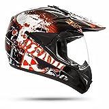 STARK 805 GS, casco da motocross con visiera, per Quad ATV, Enduro, ECE 2205, colore nero, taglie: S-L