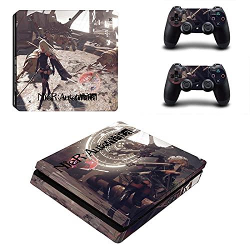 TSWEET Juego PS4 Slim Skin Sticker Decal para Playstation 4 Consola y Controlador Skin PS4 Slim Skins Sticker Vinilo