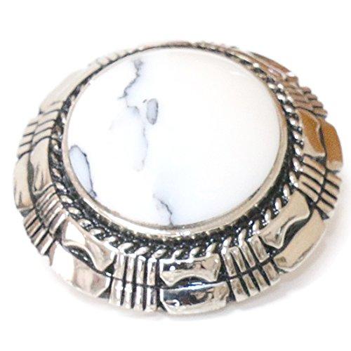 コンチョ ネイティブ インディアン ターコイズ オニキス ホワイトターコイズ 亜鉛合金製 財布 ウォレット メンズ