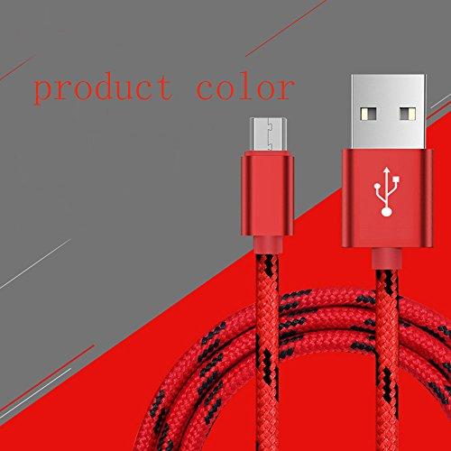 Micro-USB-Kabel mit Metallstecker + Nylonhülle, High Speed USB 2.0 A-Stecker an Micro B-Stecker Synchronisations- und Ladekabel für Samsung, HTC, LG, Motorola, Nokia