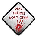 EROSPA Aufkleber KFZ Auto Motorrad - Dead Inside! Dont Open! - Car-Sticker
