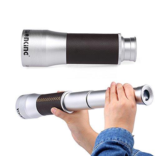 Lixada Visionking Handheld Zoomable Monocular 20x60/20x50 zusammenklappbare Tasche Monocular Teleskop Reise-Scopes mit Tragetasche