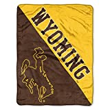 The Northwest Company Officially Licensed NCAA Wyoming Cowboys Halftone Micro Raschel Throw Blanket, 46' x 60', Multi Color