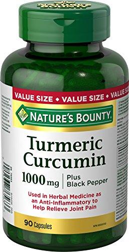 Nature's Bounty Turmeric Curcumin 1000mg Plus Black Pepper, 90...