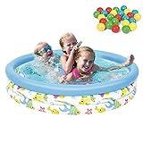 N /A WWCEEM Pool Juguetes para niños Piscina Infantil con Ocean Ball y Bomba Inflable para jardín al Aire Libre Summer Family Fun, 102 x 25 cm