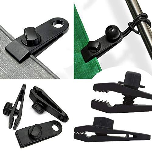 Genrics Wiederverwendbarer Hochleistungs-Linoleumclip, Reusable Heavy Duty Linoleum Clip Screw Clips Reusable Heavy Duty Tarpaulin Clips (10pcs Clip)