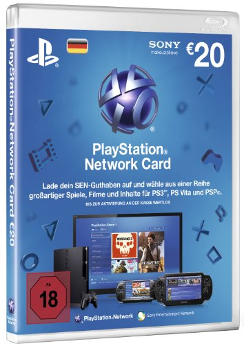 PlayStation Network Card 20 € [Guthabenkarte für deutsches PSN-Konto]