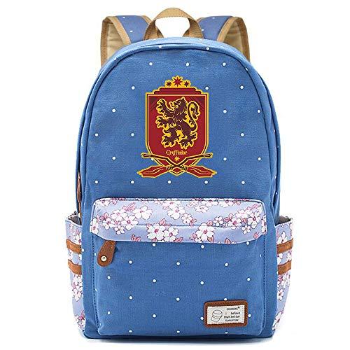 NYLY Floral School Bag zaino per adolescenti, secondario/college Studenti Scuola Satchel Libro Laptop Borsa Medio S-5