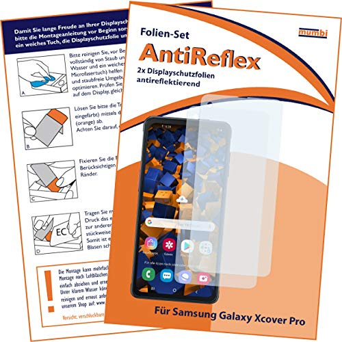 mumbi Schutzfolie kompatibel mit Samsung Galaxy Xcover Pro Folie matt, Bildschirmschutzfolie (2X)