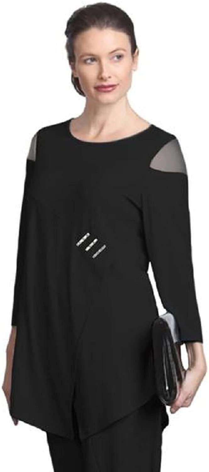 IC Collection Cold Shoulder Tunic in Black  2953