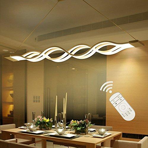 Suspension LED dimmable,Lustre LED,LIUSUN LIULU Lustre Salon Moderne, Suspension Luminaire LED pour Cuisine, Salle À Manger, Salon,Restaurant,réglable en hauteur,3000k-6000k,dimmable