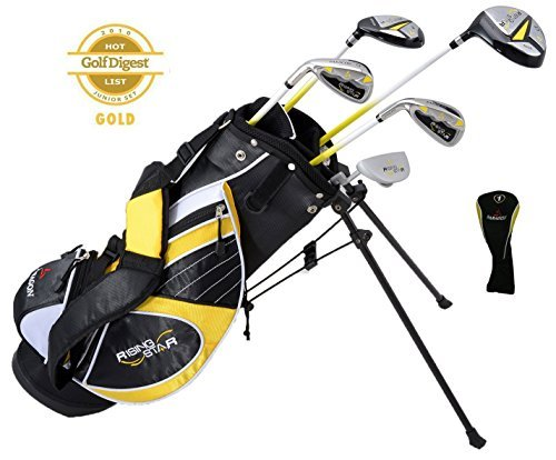 Paragon Rising Star Kids Golf Clubs Set / Ages 5-7 Yellow With Hat / Left-Hand