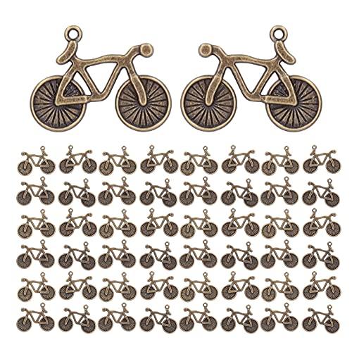 needlid Key Ring Pendants, 50Pcs Bicycle Pendants for Bracelets for Necklaces