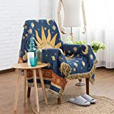 Couch Throw Blanket Sofa Throw Cover for Couch Bed Soft Decorative Cotton Woven Knit Warm Bed Throws Sofa Slipcover Protector Double Sided Multi-Function (Color-07, 130x180cm/50x70inch)