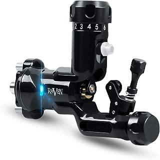 Dragonhawk Raven Rotary Tattoo Machine One Touch Hit Adjuster Machine with 304 Steel Tattoo Grip Q555 (Black)