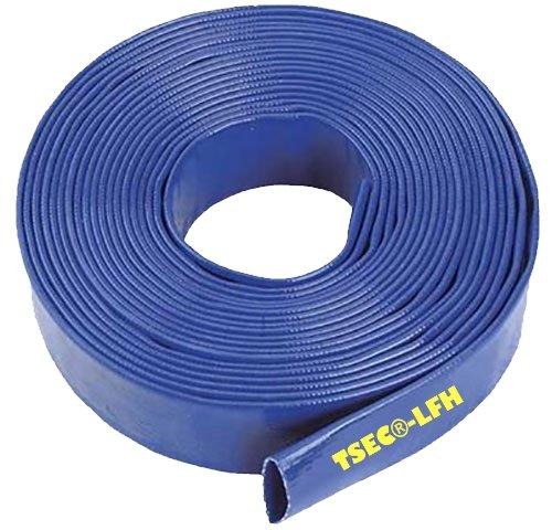 Manguera para bomba de agua, 25 mm x 20 m, diseño plano, color azul