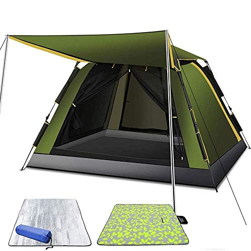 LHQ-HQ Camping Tent Automatic Tent, Lightweight, with Backpack, Windproof Shade Family Camping Tent, Suitable for Outdoor Sports 200 * 200 * 140cm Automatic Camping Tent
